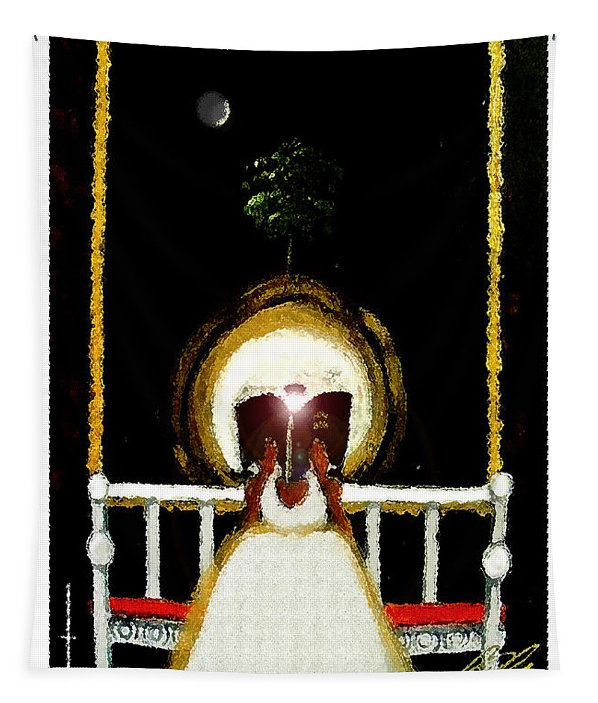 Swing Tapestry featuring the painting Enlightened by C F Legette