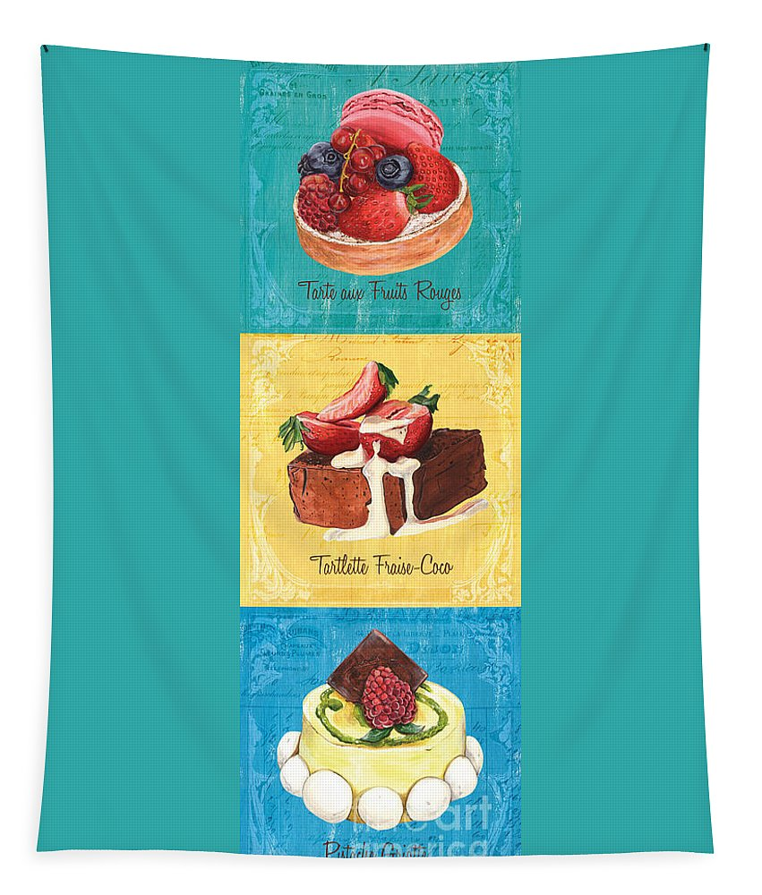 Pastry Tapestry featuring the painting Epicerie Panel 1 by Debbie DeWitt