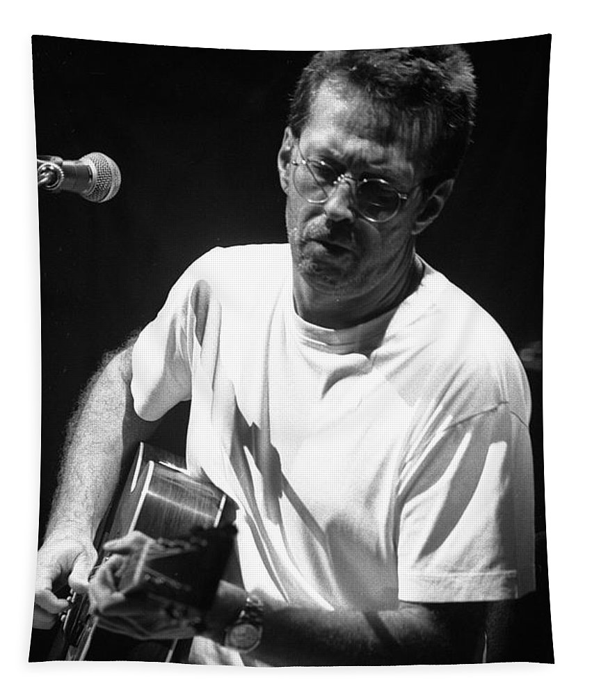 Clapton Tapestry featuring the photograph Eric Clapton 003 by Timothy Bischoff
