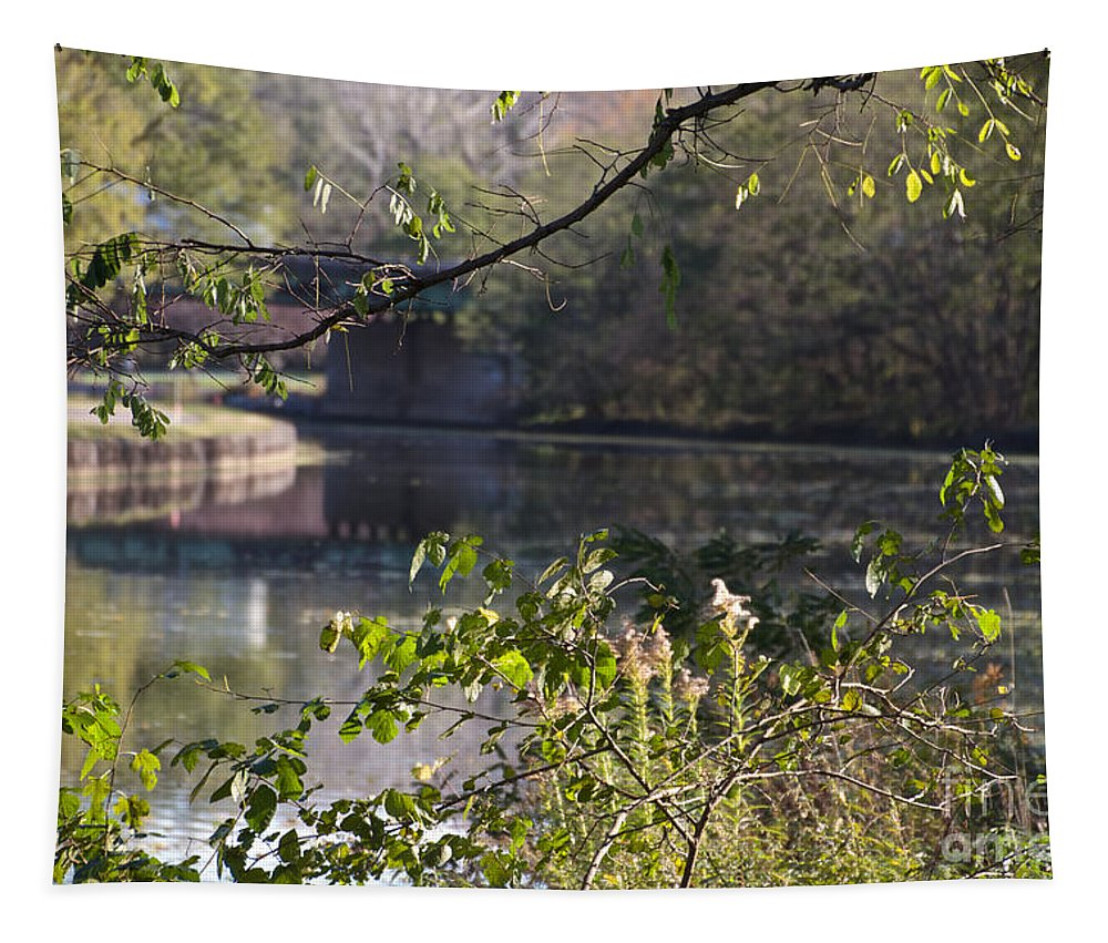 Erie Canal Tapestry featuring the photograph Erie Canal At Bushnell Basin by William Norton