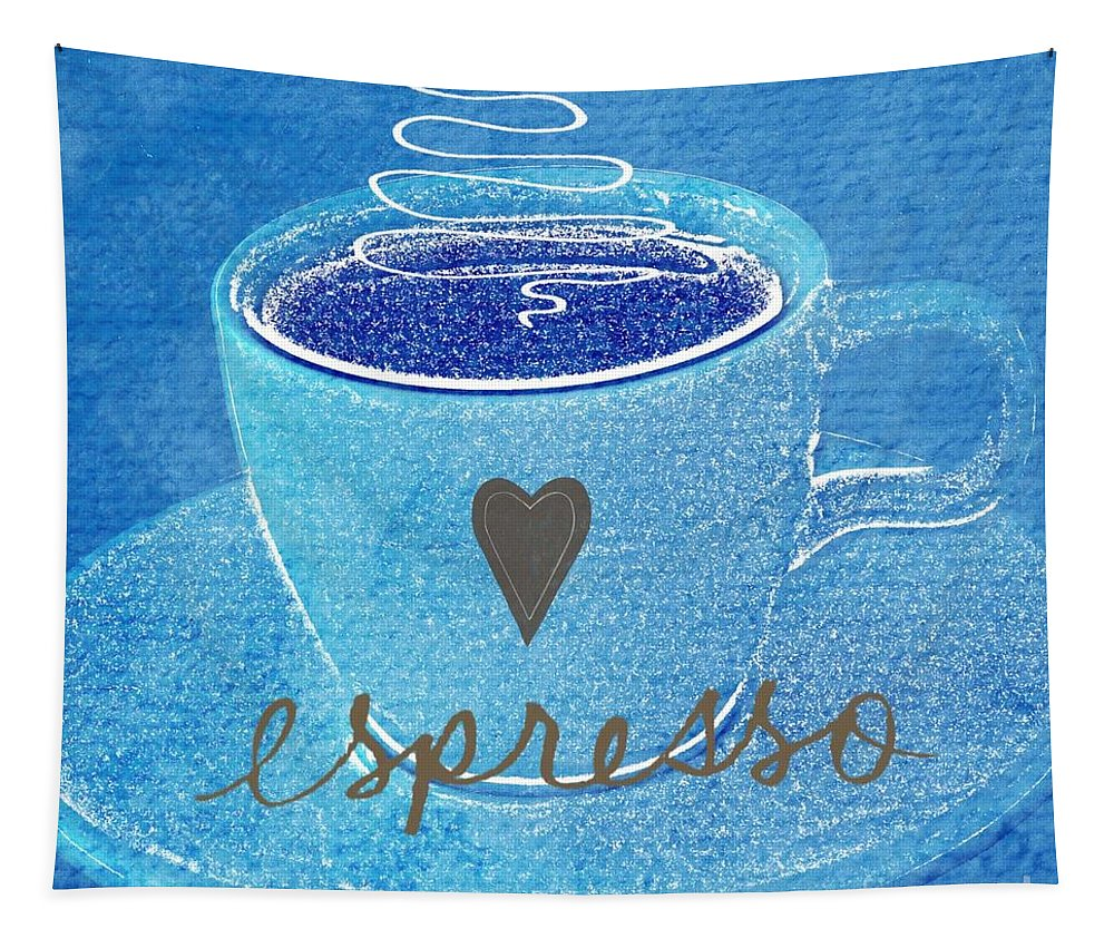 Espresso Tapestry featuring the painting Espresso by Linda Woods