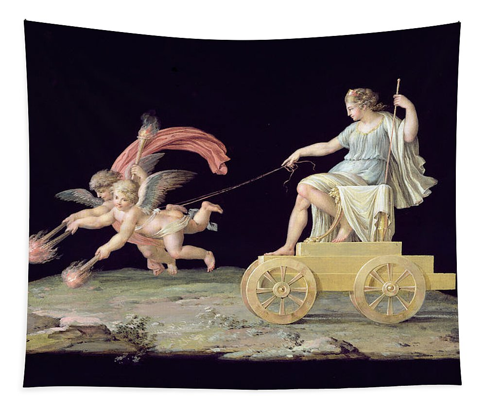Chariot Tapestry featuring the painting Eternity by Michelangelo Maestri