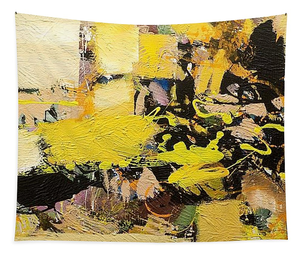Landscape Tapestry featuring the painting Euclid by Allan P Friedlander