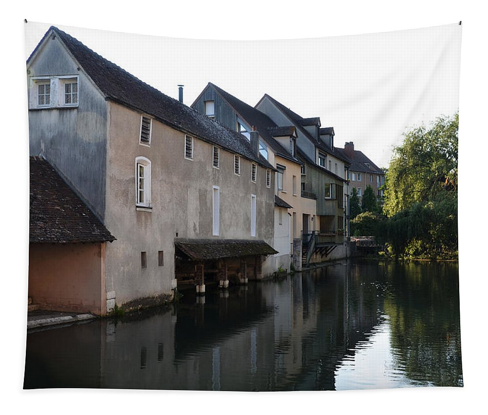 Chartres Tapestry featuring the photograph Eure River And Old Fulling Mills In Chartres by RicardMN Photography
