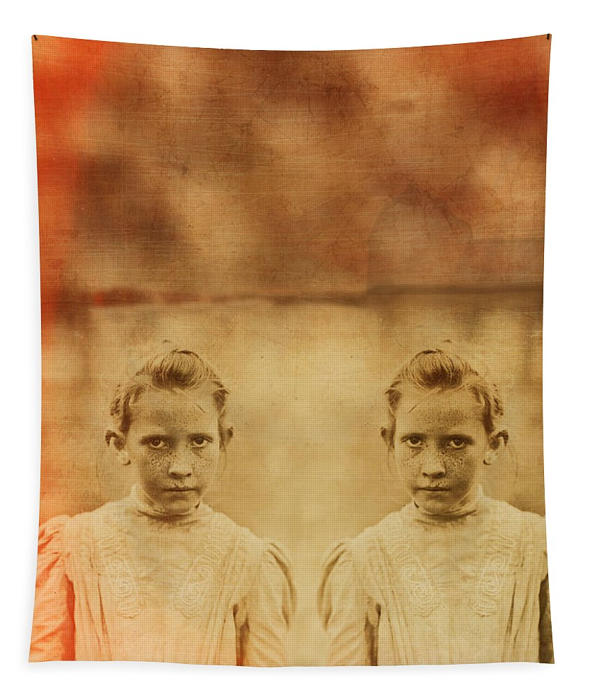 Twin Tapestry featuring the photograph Evil Twins by Edward Fielding
