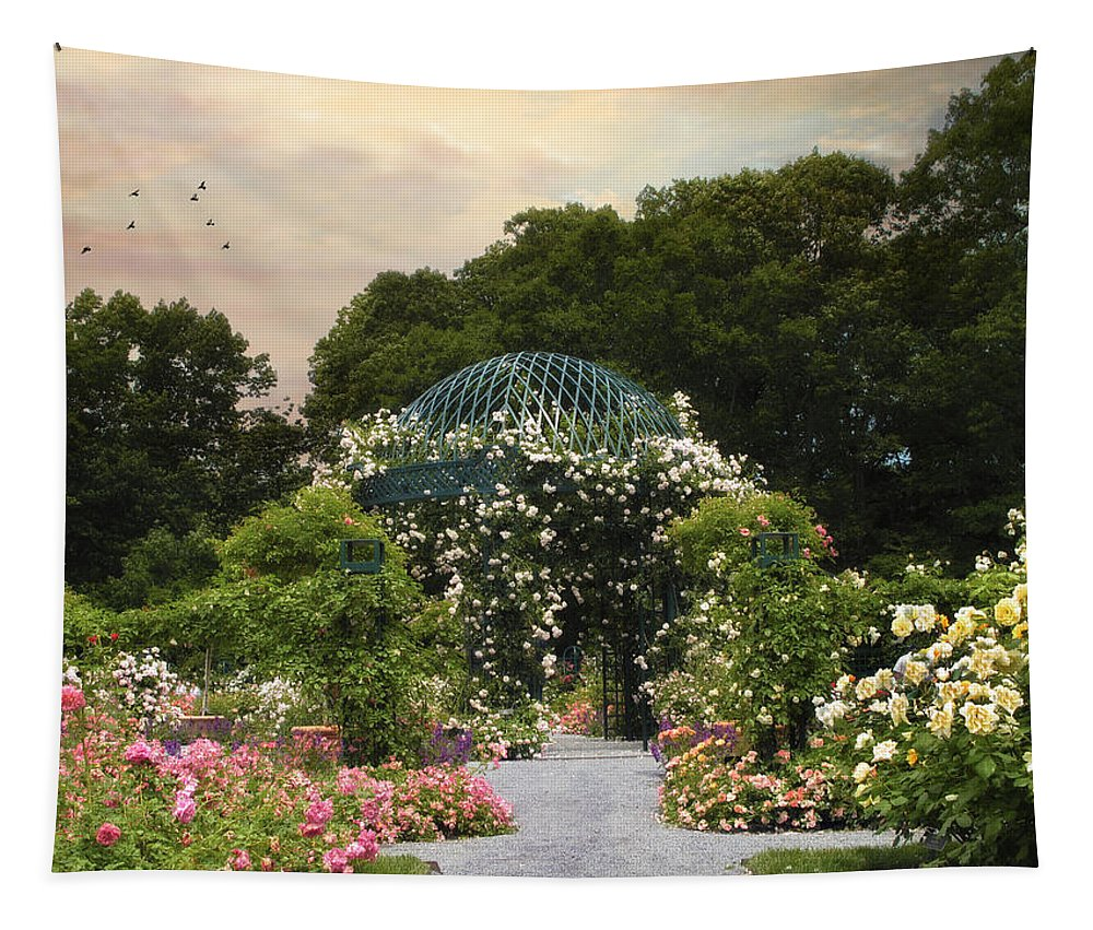 Nature Tapestry featuring the photograph Exhibit Of Roses by Jessica Jenney