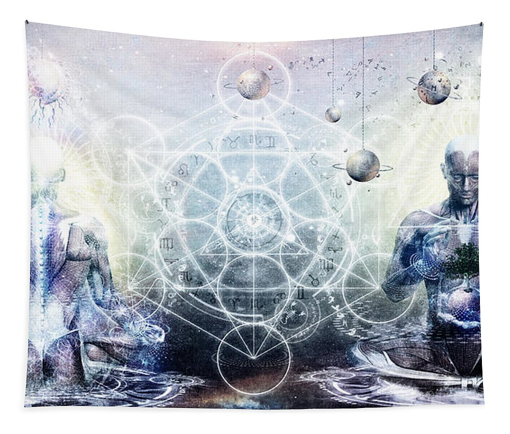 Spiritual Tapestry featuring the digital art Experience So Lucid Discovery So Clear by Cameron Gray