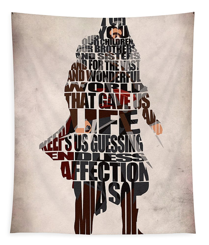 Ezio Tapestry featuring the digital art Ezio Auditore Da Firenze by Inspirowl Design