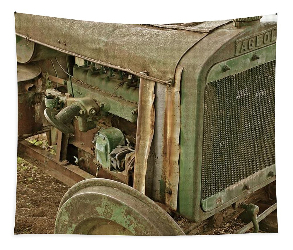 Fageol Tractor Tapestry featuring the photograph Fageol Tractor I by Bill Owen