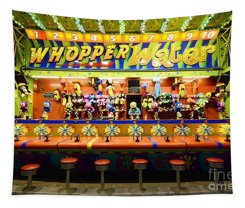 Whopper Water Tapestry featuring the photograph Fairground Fun Sideshow 2 by Bob Christopher