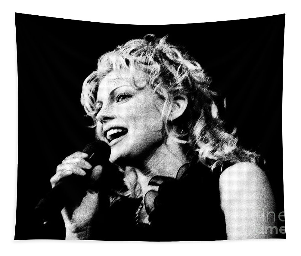 Faith Hill Tapestry featuring the photograph Faith Hill 18 - 1995 by Gary Gingrich Galleries