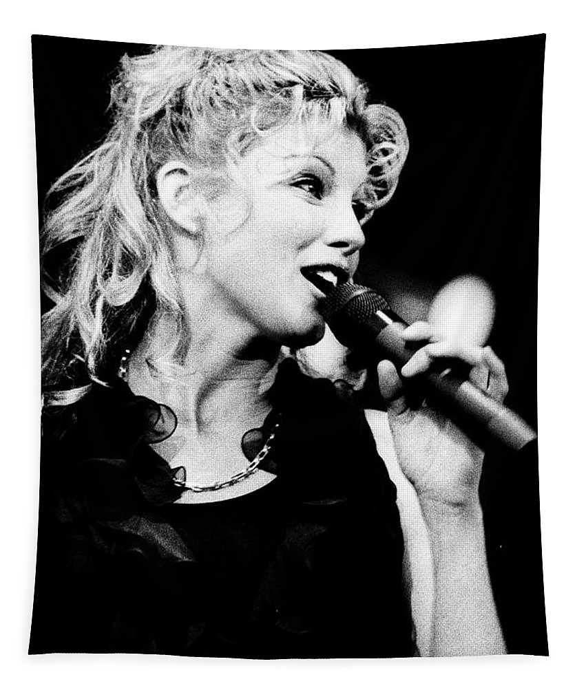 Faith Hill Tapestry featuring the photograph Faith Hill 5 - 1995-1 by Gary Gingrich Galleries