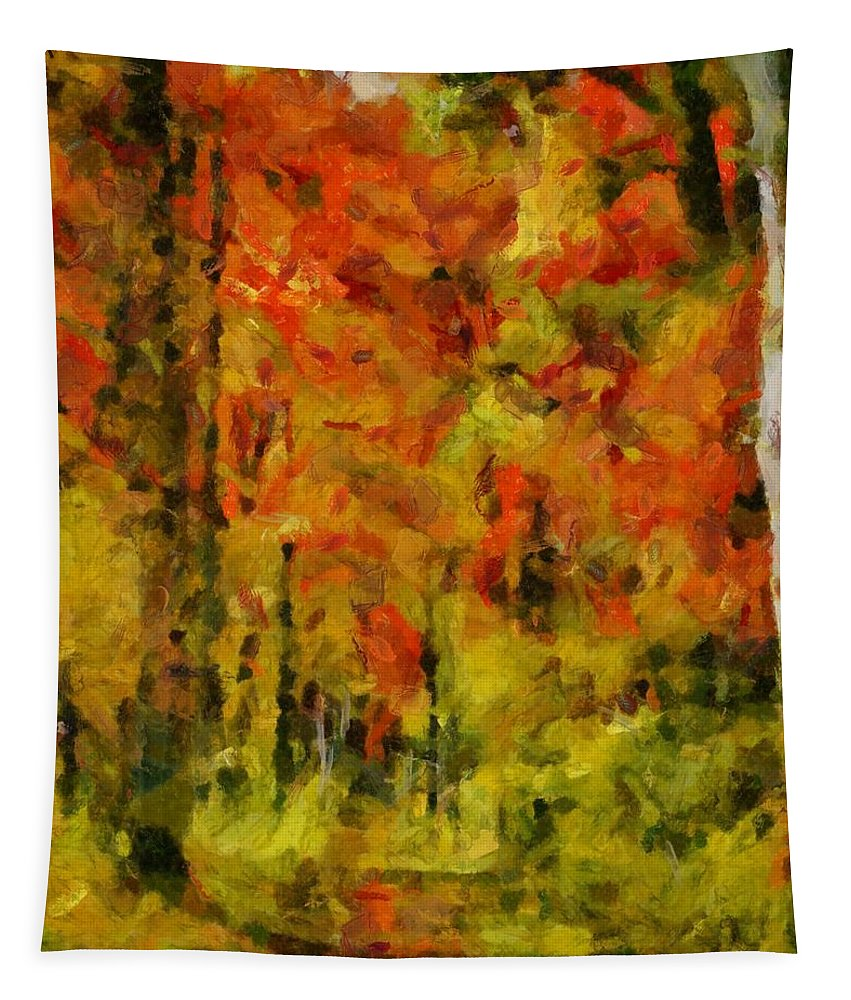Fall Colors In Ohio Tapestry featuring the painting Fall Colors In Ohio by Dan Sproul
