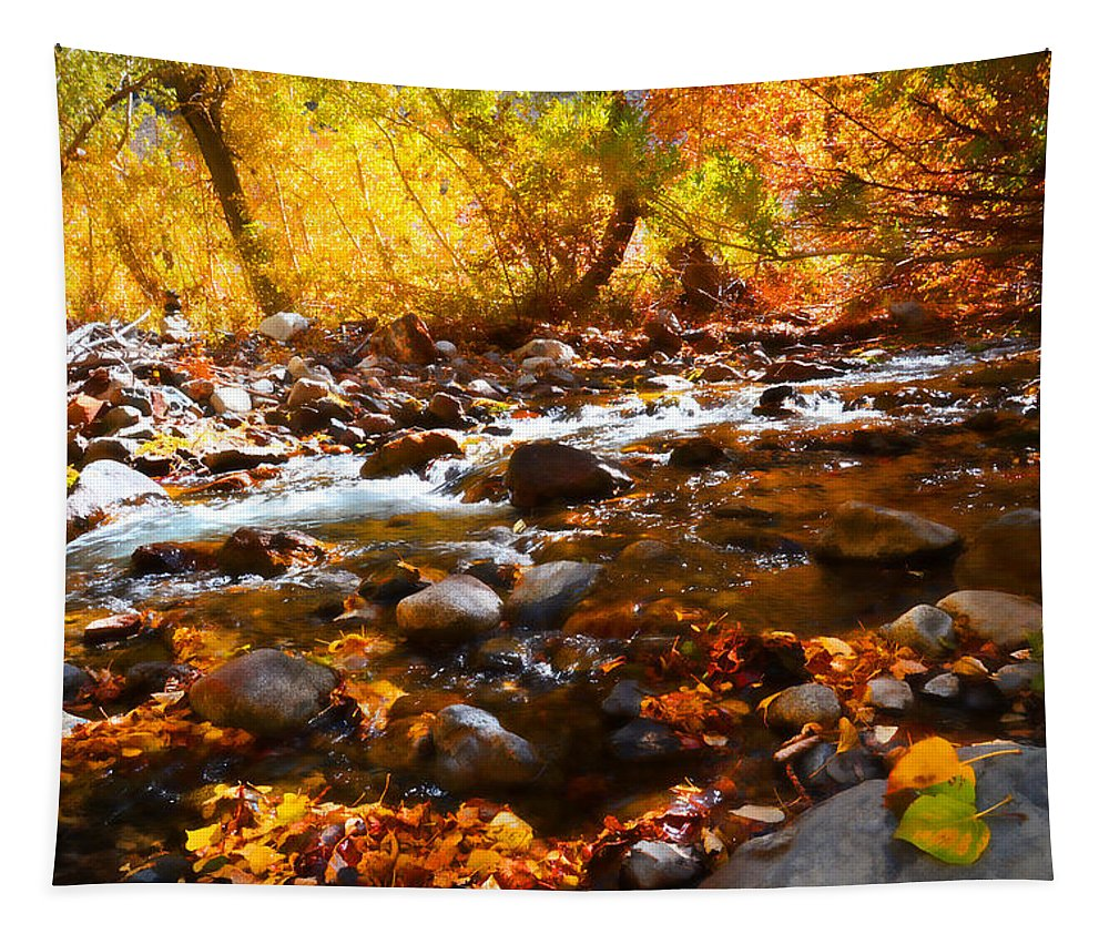 Fall Tapestry featuring the photograph Fall Flow At Mcgee Creek by Lynn Bauer