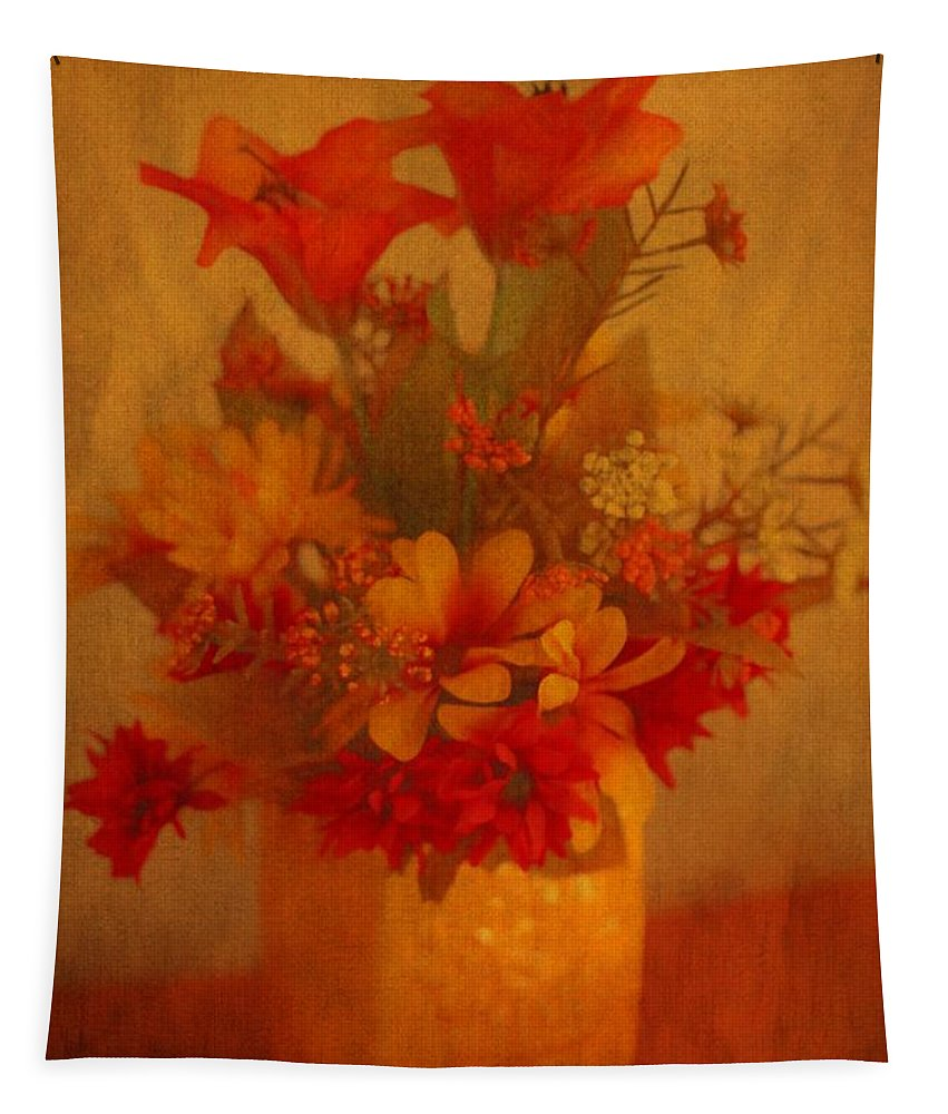 Fall Flower Bouquet Tapestry featuring the photograph Fall Flower Bouquet by Dan Sproul