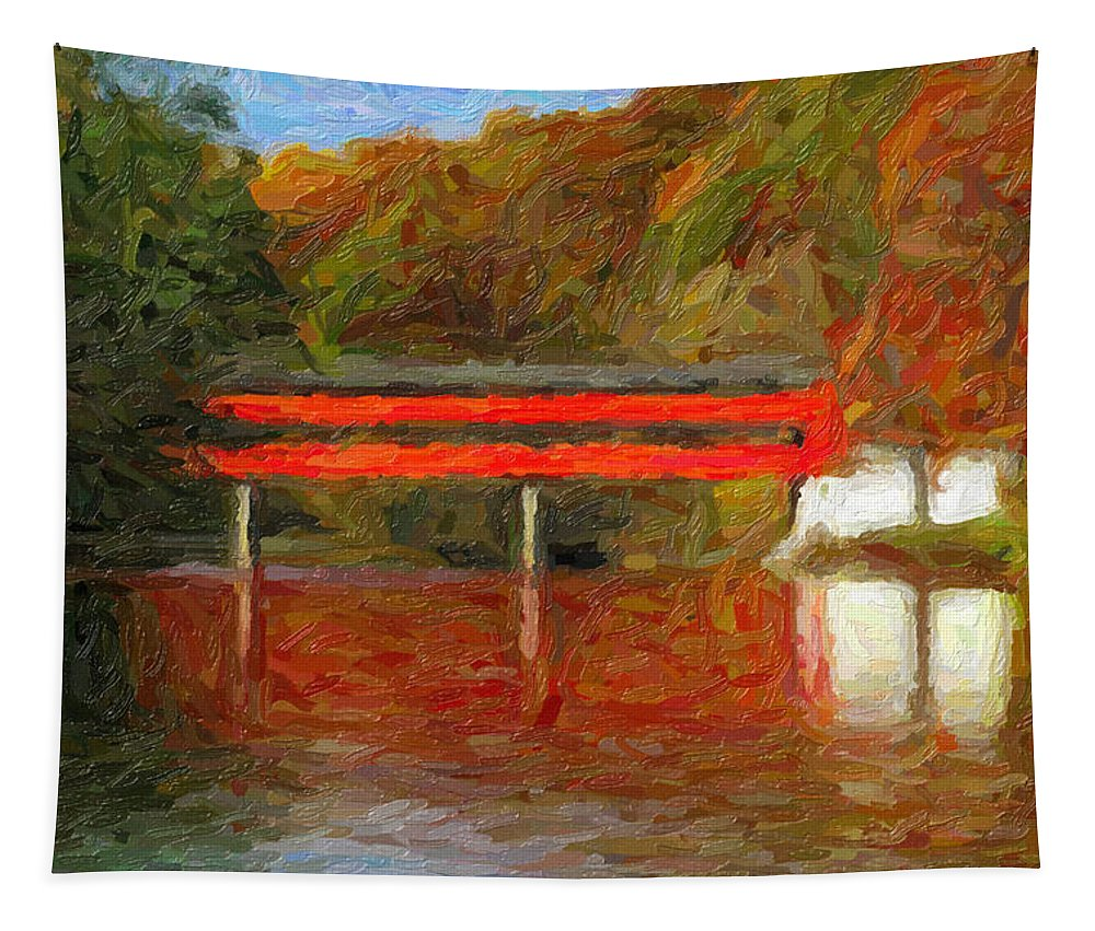 Fall Tapestry featuring the digital art Fall On The Brandywine by Phillip Hanny