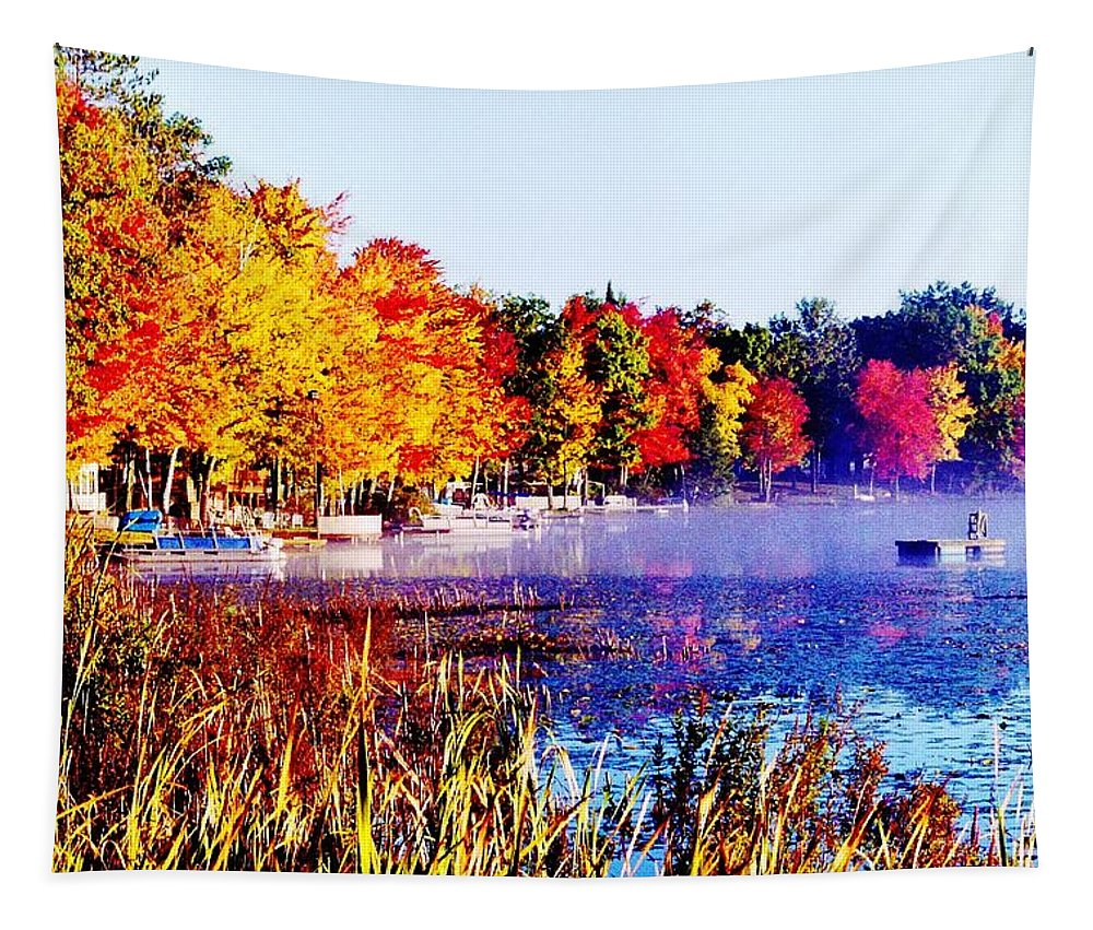 Lake Tapestry featuring the photograph Fall Splendor Of Mid-michigan by Daniel Thompson