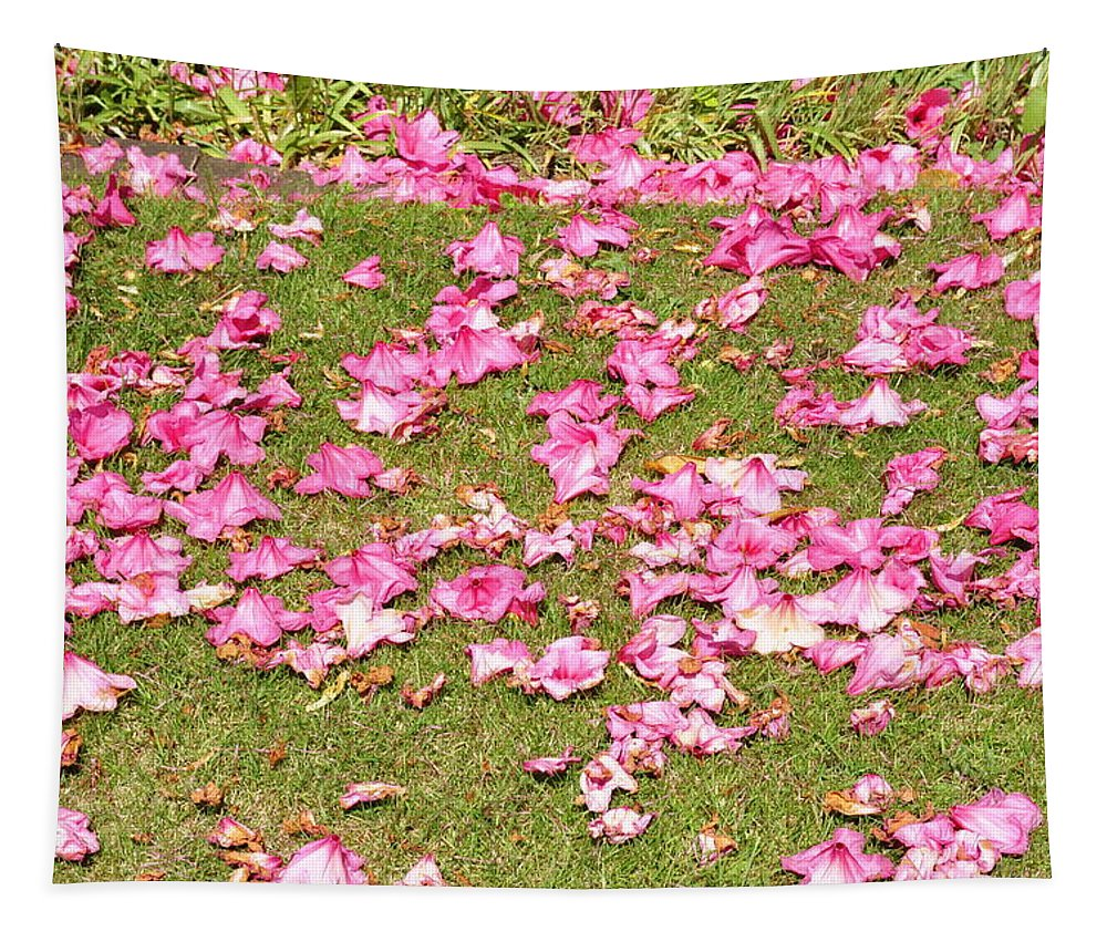 Pink Tapestry featuring the photograph Fallen Rhododendron by Tikvah's Hope