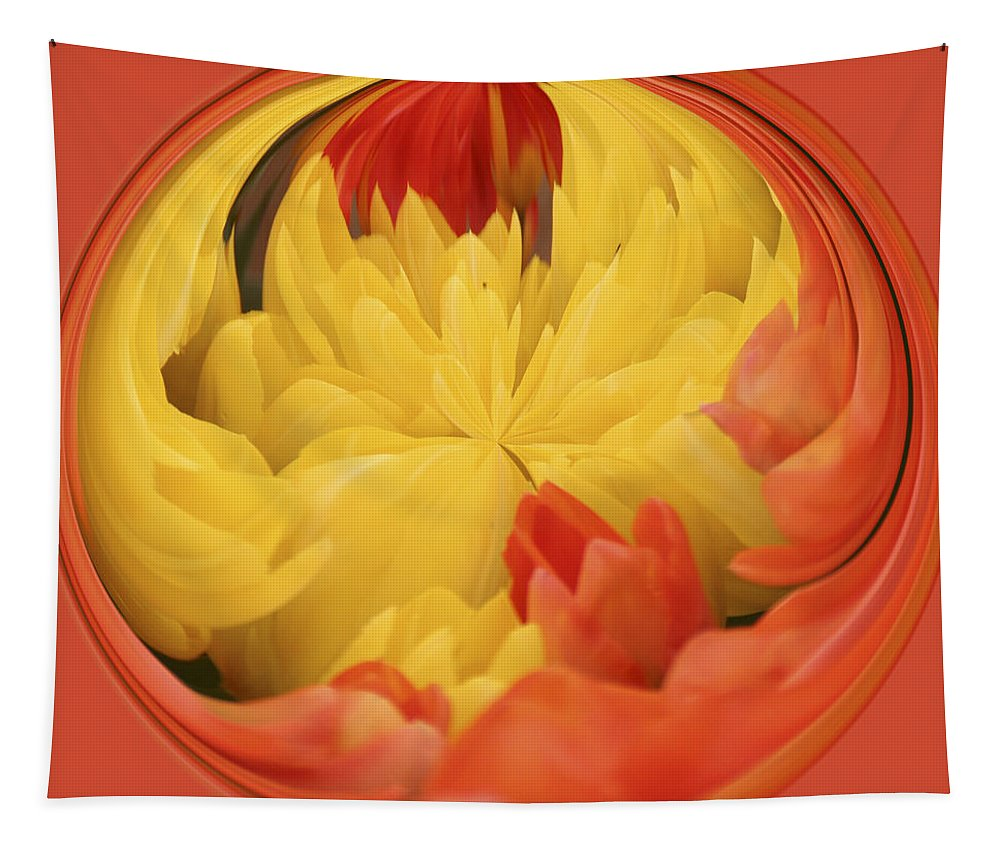 Falling Into A Flower Tapestry featuring the photograph Falling Into A Flower by Wes and Dotty Weber