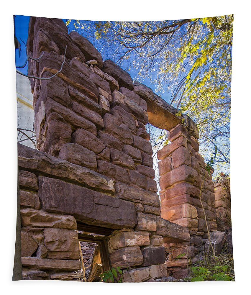 Abandoned Tapestry featuring the photograph Falling Wall Jerome by Scott Campbell