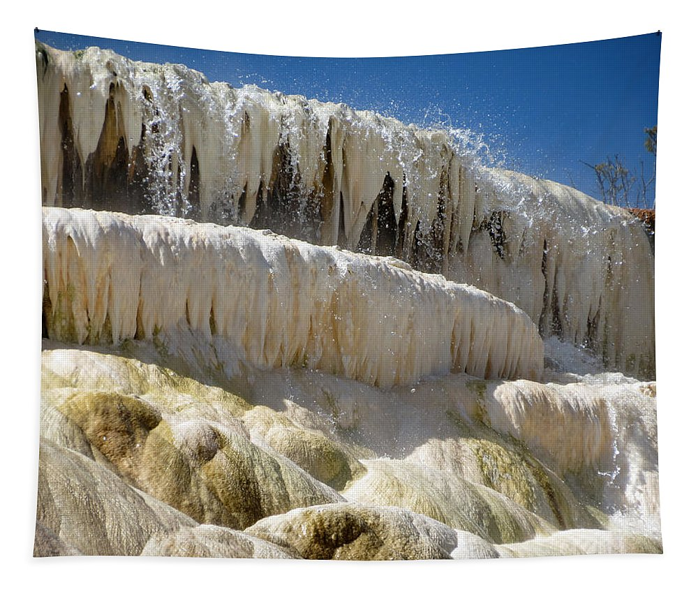 Yellowstone National Park Tapestry featuring the photograph Falling Water by Laurel Powell