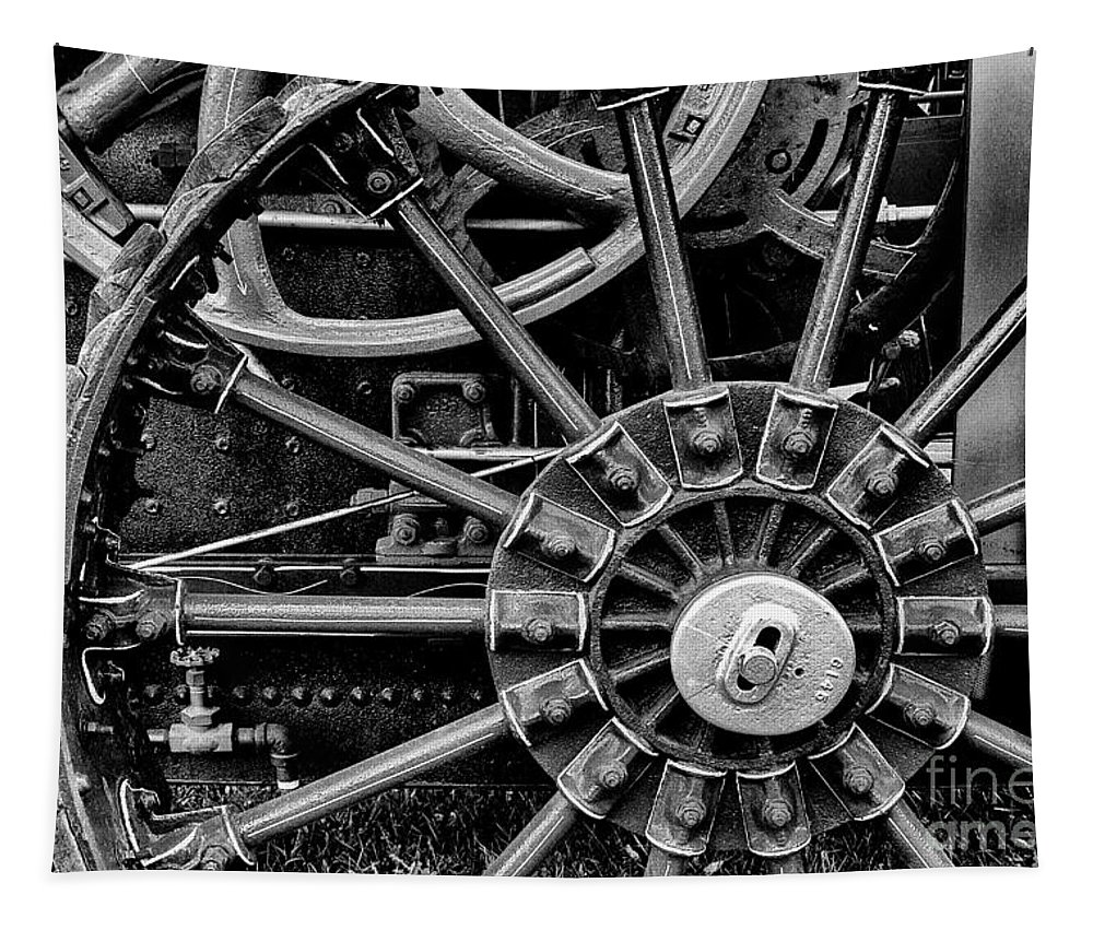 Tractor Tapestry featuring the photograph Fancy Big Wheel by Paul W Faust - Impressions of Light