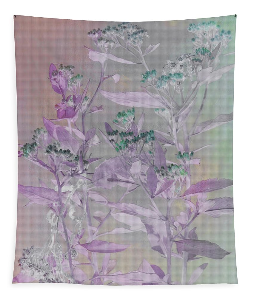 Wild Flowers Tapestry featuring the photograph Fantasy By The Pond by Deborah Benoit