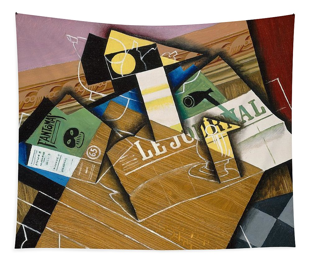Abstract; Spanish; Still Life; Cubist; Cubism; Journal Tapestry featuring the painting Fantomas by Juan Gris