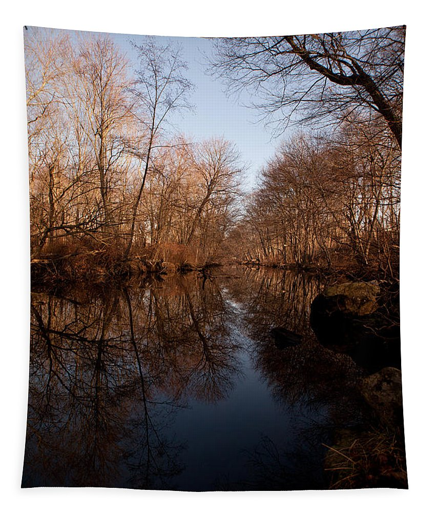 River Tapestry featuring the photograph Far Mill River Reflects by Karol Livote