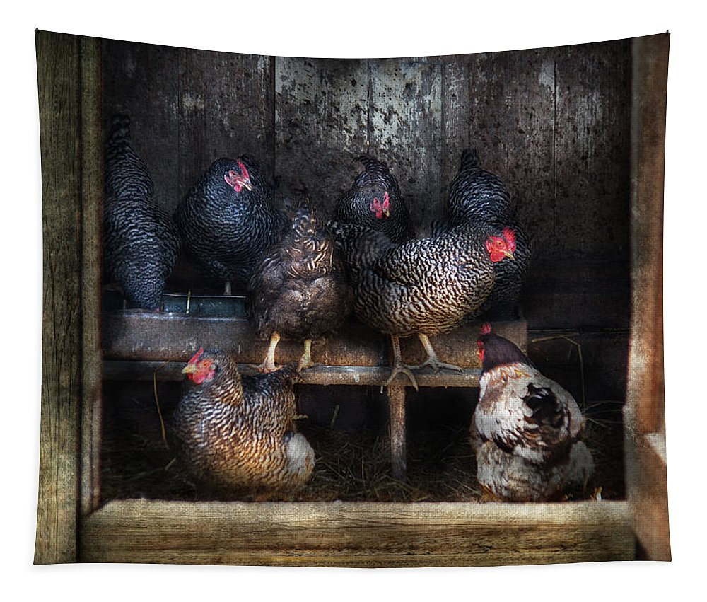 Savad Tapestry featuring the photograph Farm - Chicken - The Hen House by Mike Savad