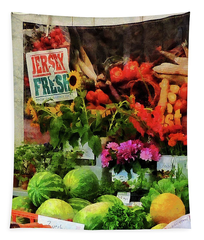 Farmer's Market Tapestry featuring the photograph Farmer's Market by Susan Savad