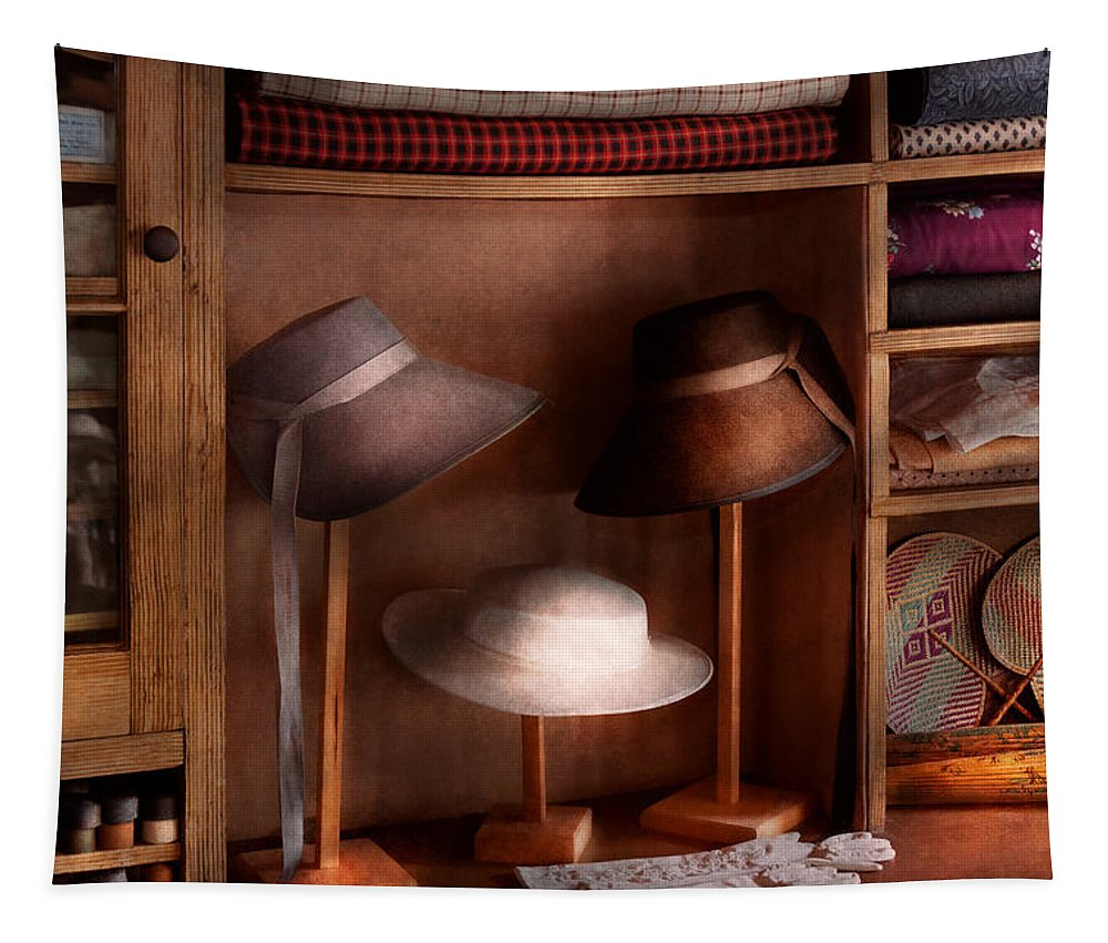 Hat Tapestry featuring the photograph Fashion - Hats On Sale by Mike Savad