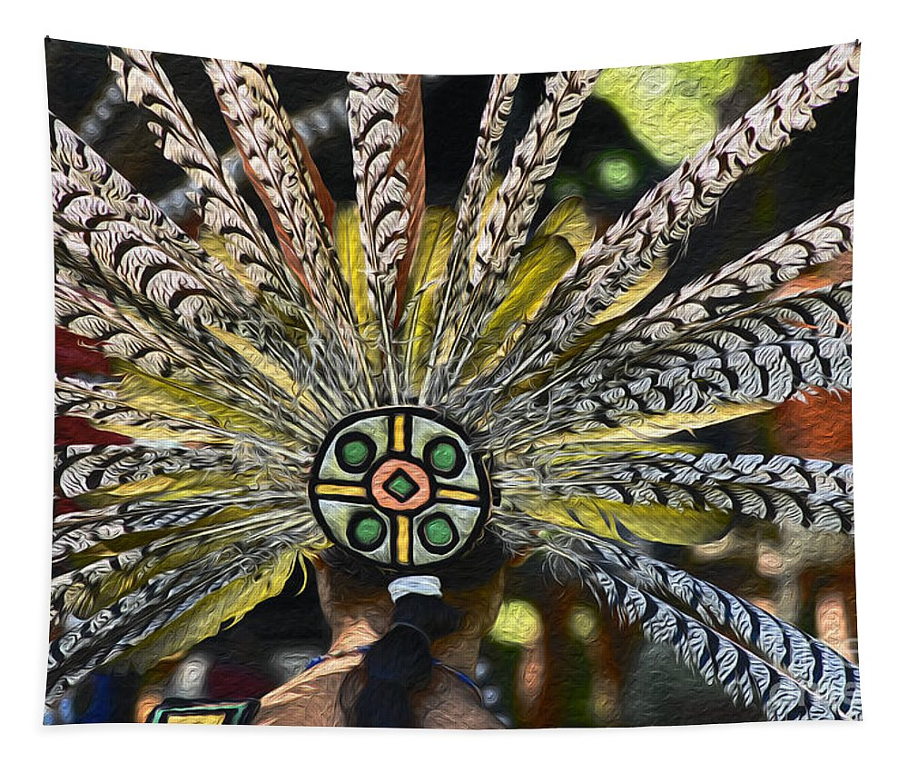 Aztec Tapestry featuring the photograph Feather Crown by Paul W Faust - Impressions of Light