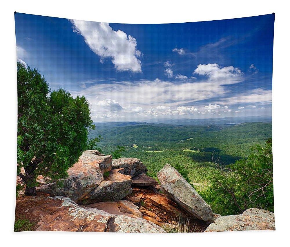 Mogollon Rim Tapestry featuring the photograph Feeling On Top Of The World by Saija Lehtonen