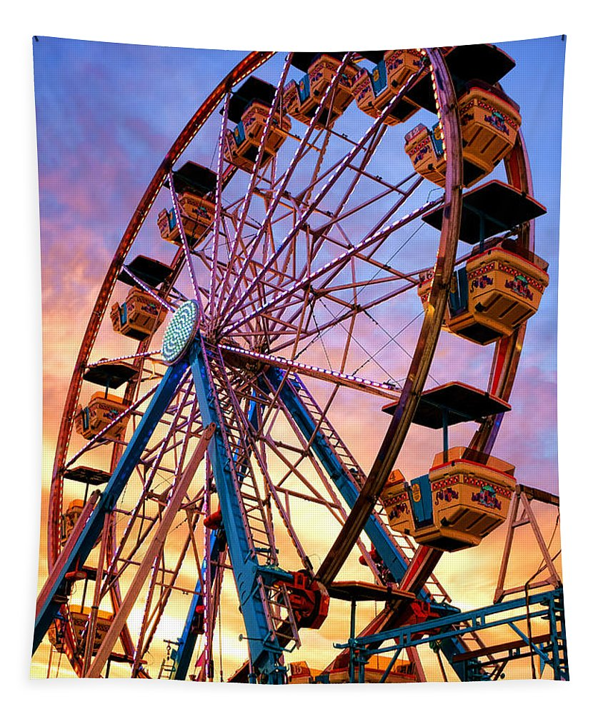 Ferris Tapestry featuring the photograph Ferris Wheel Dream by Olivier Le Queinec