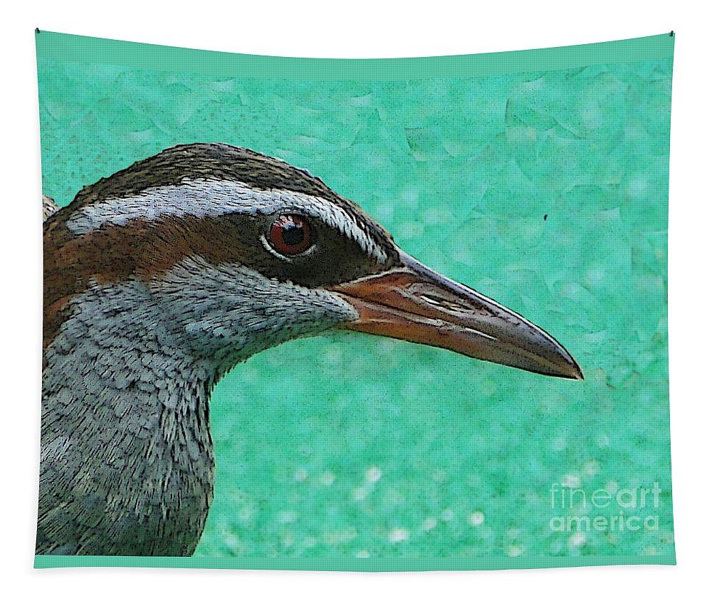Bird Tapestry featuring the photograph Fijinan Bird 2 by Ben Yassa
