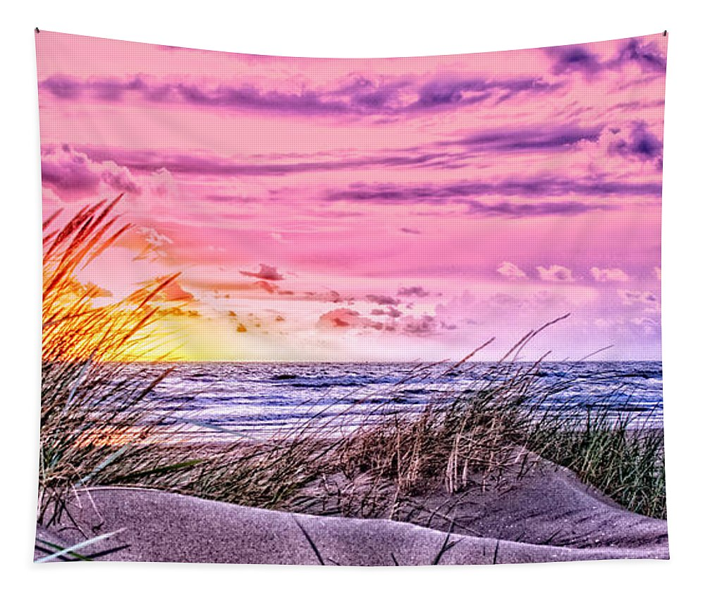 Beach Tapestry featuring the photograph Filtered Beach by Alex Hiemstra