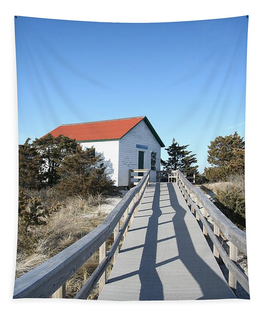 New York Tapestry featuring the photograph Fire Island Light Station by Karen Silvestri