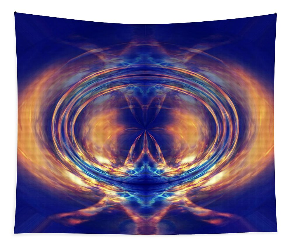 Ray Tapestry featuring the digital art Fire Spin 1 by Steve Ball