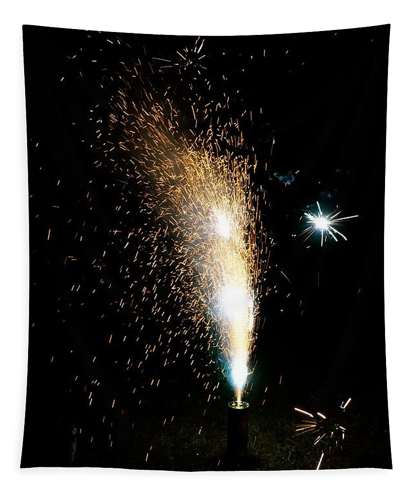 Light Tapestry featuring the photograph Fireworks by Jacqueline Athmann