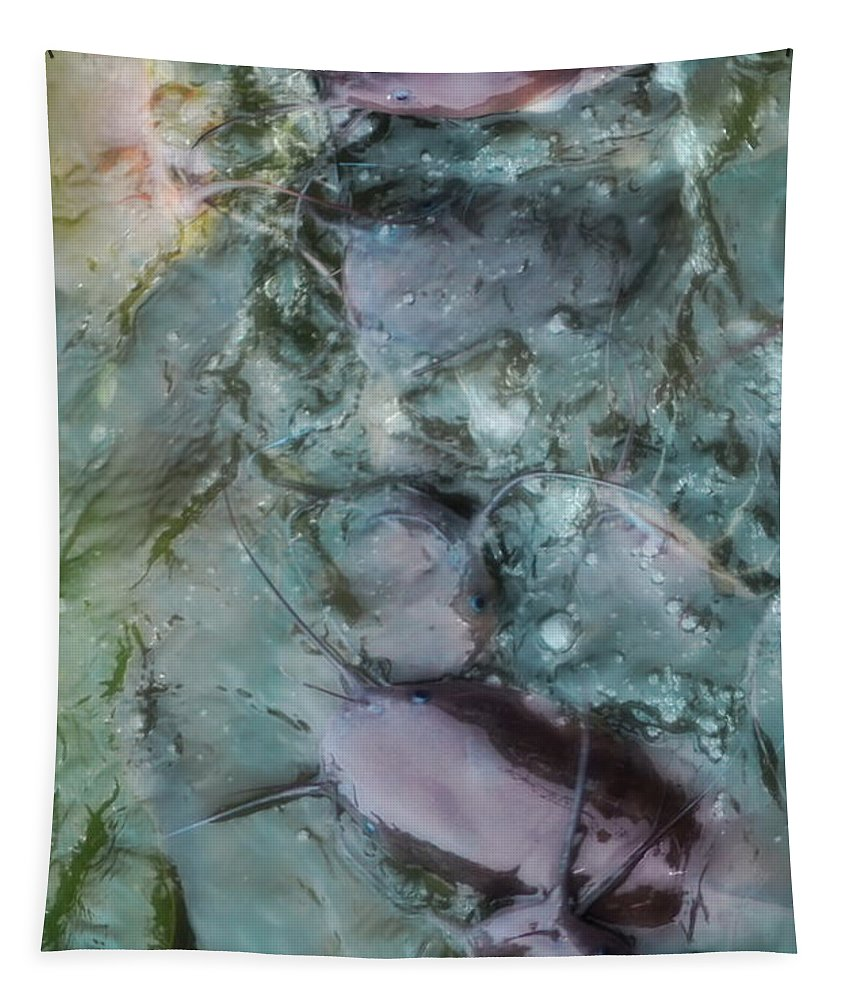 Art Tapestry featuring the photograph Fish Abstract by Michelle Meenawong