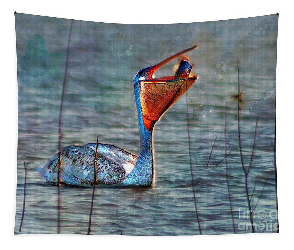 John+kolenberg Tapestry featuring the photograph Fish In by John Kolenberg