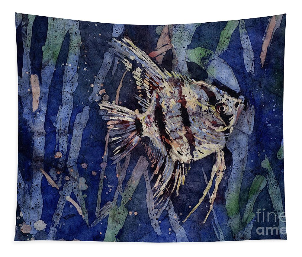 Art Prints Tapestry featuring the painting Fish N Flips by Ryan Fox