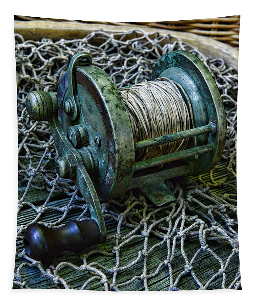 Paul Ward Tapestry featuring the photograph Fishing - That Old Fishing Reel by Paul Ward
