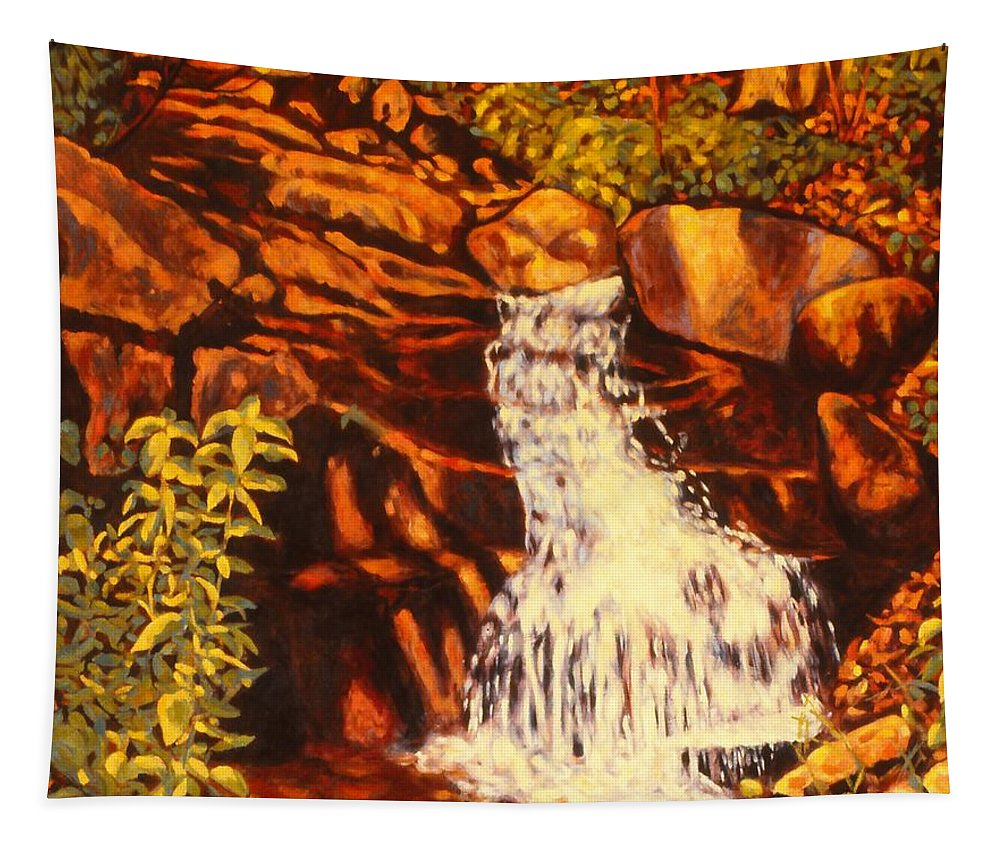 Kendall Kessler Tapestry featuring the painting Five Mile Mountain by Kendall Kessler