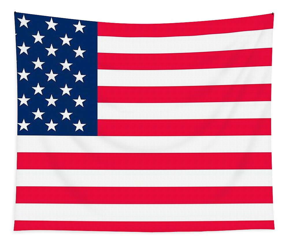 America Tapestry featuring the painting Flag Of The United States Of America by Anonymous