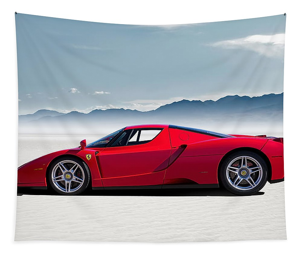 Red Tapestry featuring the digital art Flat Out by Douglas Pittman