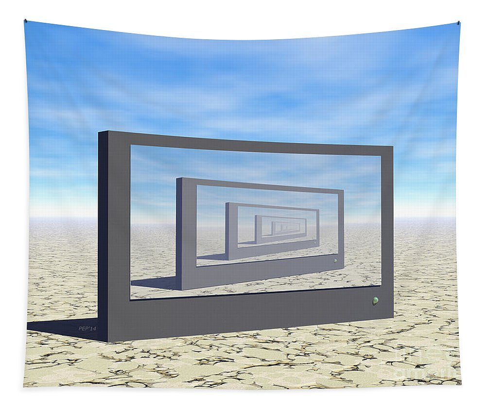 Digital Art Tapestry featuring the digital art Flat Screen Desert Scene by Phil Perkins