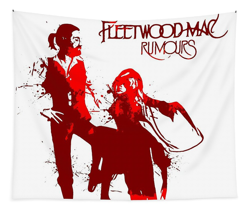 Fleetwood Mac Album Cover Watercolor Tapestry featuring the digital art Fleetwood Mac Rumours by Dan Sproul