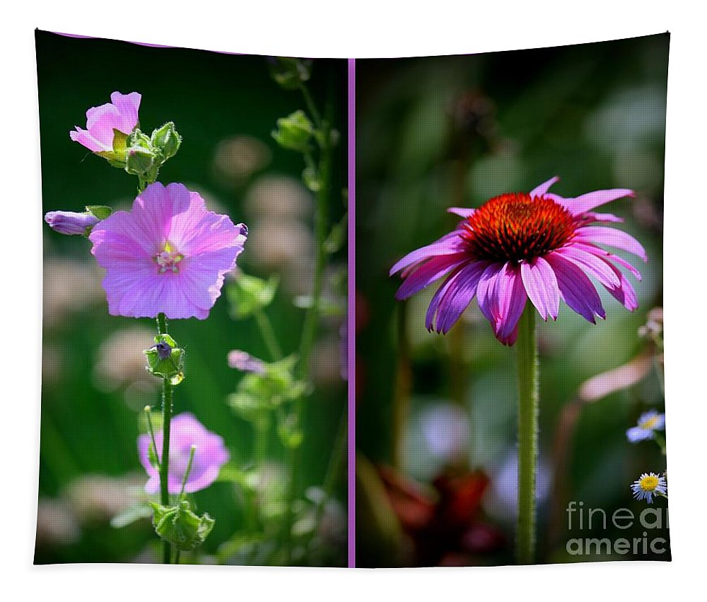 Art Tapestry featuring the photograph Floral Collage by Linda Galok